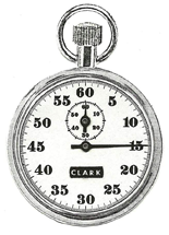 Fifth Second Plain Timer Stopwatch