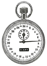 Tenth Second Plain Timer Stopwatch