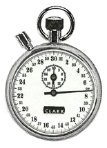 Tenth Second Timeout with Flyback Timer Stopwatch